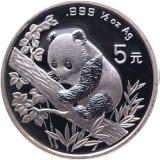 Panda 5 Yuan ½oz Zilver