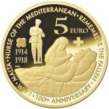 5 Euro Herdenkinsmunten Malta